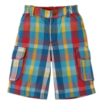 Frugi Red & Blue Check Shorts