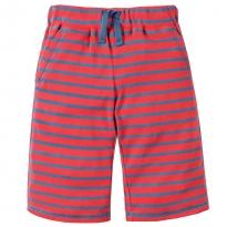 Frugi Tomato Stripe Scilly Shorts