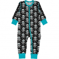 Maxomorra Skeleton ZIP Romper
