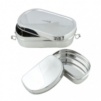 Oval Lunch Box & Mini Container - A Slice Of Green