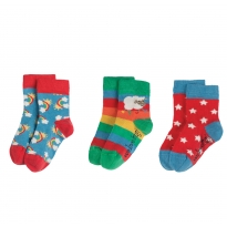 Frugi Rainbow Little Socks 3-Pack