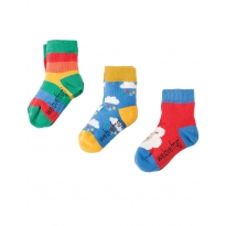 Frugi Sheep Little Socks 3-Pack