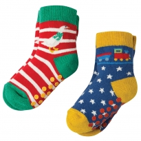 Frugi Goose Grippy Socks x2