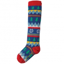 Frugi Fir Tree Fairisle Skye High Socks