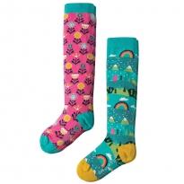 Frugi Alpine Town Knee Socks 2-Pack