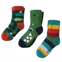 Frugi Dino Rock My Socks 3-Pack