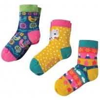 Frugi Arctic Fox Susie Socks 3-Pack