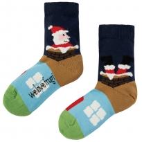 Frugi Perfect Pair Santa Socks