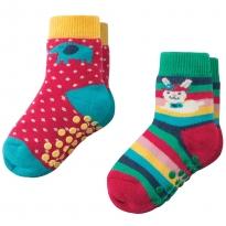 Frugi Bunny Grippy Socks x2