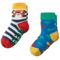 Frugi Otter Grippy Socks x2