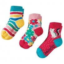 Frugi Chipmunks Little Socks x3