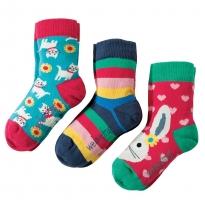 Frugi Bunny Susie Socks 3-Pack