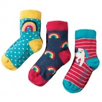 Frugi Unicorn Susie Socks 3-Pack
