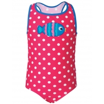 Frugi Spot Fish Applique Sally Swimsuit
