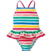 Frugi Summer Stripe Mullion Swimsuit