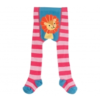 Frugi Raspberry Lion Crawl Away Tights