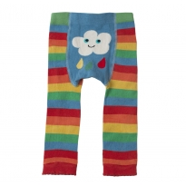 Frugi Rainbow Cloud Knitted Leggings