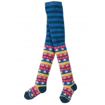Frugi Ink Daisy Stripe Norah Tights