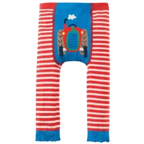 Frugi Tractor Little Knitted Leggings