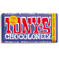 Tony's Chocolonely Fairtrade Dark Milk Pretzel & Toffee Chocolate 180g