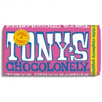 Tony's Chocolonely White Raspberry Popping Candy Chocolate 180g