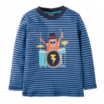 Frugi Monkey Discovery Applique Top