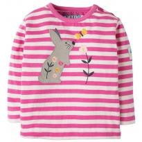 Frugi Bunny Button Applique Top