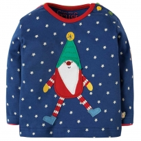 Frugi Tomte Button Applique Top