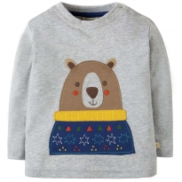 Frugi Bear Little Discovery Top