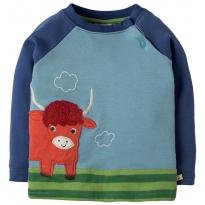 Frugi Highland Cow Raglan Top