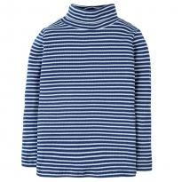 Frugi Blue Ava Stripe Roll Neck