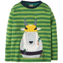 Frugi Goat Discovery Applique Top
