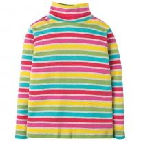 Frugi Rainbow Marl Eva Stripe Roll Neck