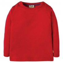 Frugi Red Favourite LS Tee