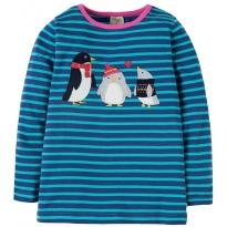 Frugi Penguins Nyrah Applique Top