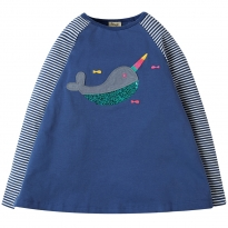 Frugi Narwhal Suzie Swing Top