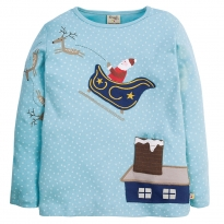 Frugi Santa Ida Fun Applique Top
