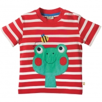 Frugi Frog Little Fal Applique T-shirt