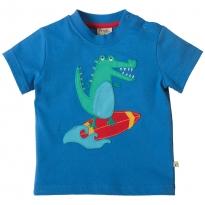 Frugi Crocodile Little Polkerris Applique T-Shirt