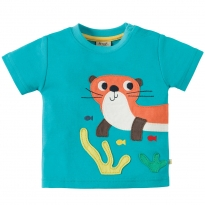Frugi Otter Scout Applique Top