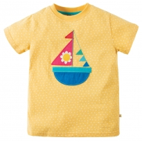 Frugi Boat Evie Applique T-Shirt
