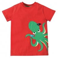 Frugi Octopus James Applique T-Shirt