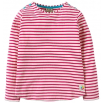 Frugi Pink Louise Stripe Top