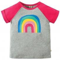 Frugi Rainbow Nancy Raglan Top