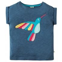Frugi Navy Hummingbird Sophia Slub T-Shirt