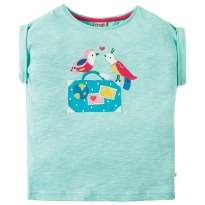 Frugi Aqua Birds Sophia Slub T-Shirt