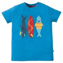 Frugi Sharks Stanley Applique T-shirt