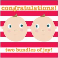 Toby Tiger Twins Newborn Card