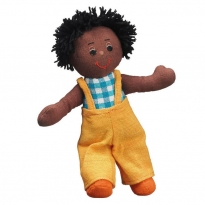 Lanka Kade Boy Doll - Black Skin, Black Hair