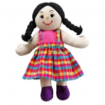 Lanka Kade Girl Doll - White Skin, Black Hair